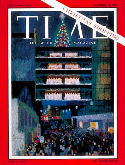 TIME Magazine Cover: Christmas Shopping -- Dec. 15, 1961