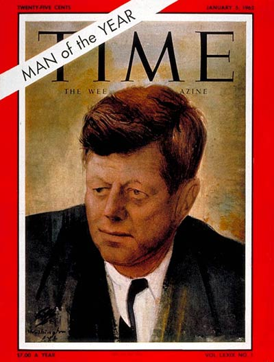 TIME Magazine Cover: John F. Kennedy, Man of the Year -- Jan. 5, 1962