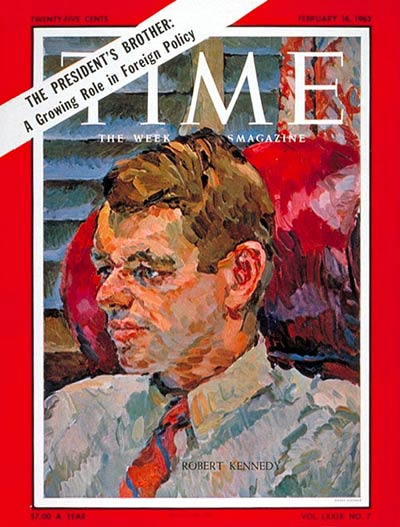TIME Magazine Cover: Robert F. Kennedy -- Feb. 16, 1962