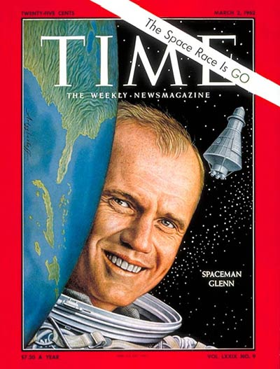 TIME Magazine Cover: John Glenn -- Mar. 2, 1962