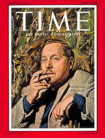 TIME Magazine Cover: Tennessee Williams -- Mar. 9, 1962