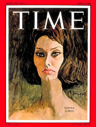 TIME Magazine Cover: Sophia Loren -- Apr. 6, 1962