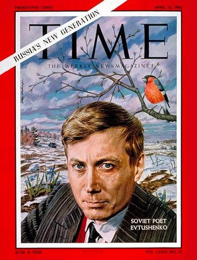 TIME Magazine Cover: Evgeny Evtushenko -- Apr. 13, 1962
