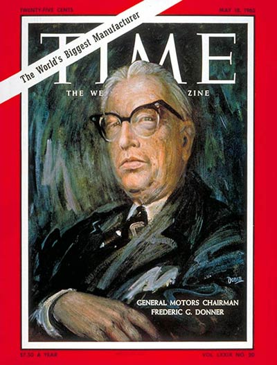 TIME Magazine Cover: Federic G. Donner -- May 18, 1962