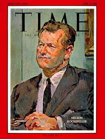 TIME Magazine Cover: Nelson Rockefeller -- June 15, 1962
