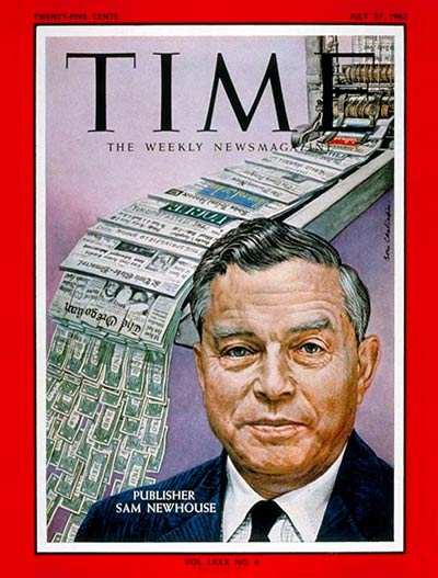 TIME Magazine Cover: Samuel I. Newhouse -- July 27, 1962
