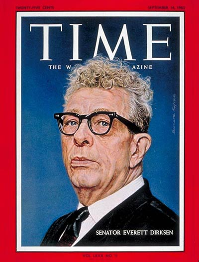 TIME Magazine Cover: Sen. Everett Dirksen -- Sep. 14, 1962