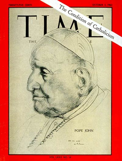 TIME Magazine Cover: Pope John XXIII -- Oct. 5, 1962