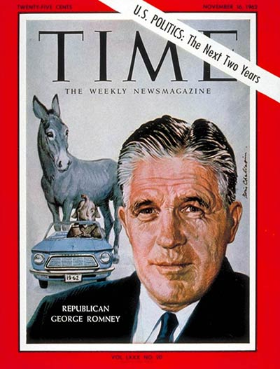 TIME Magazine Cover: Gov. George Romney -- Nov. 16, 1962