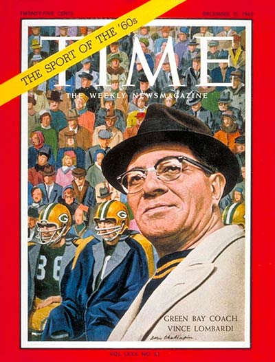 TIME Magazine Cover: Vince Lombardi -- Dec. 21, 1962