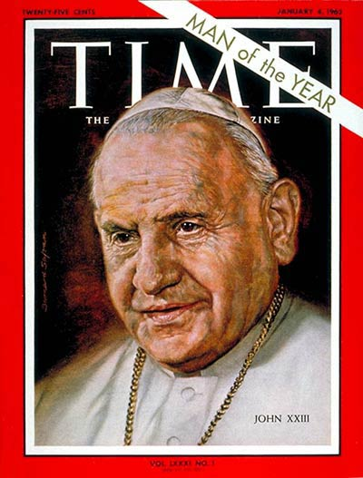 TIME Magazine Cover: Pope John XXIII, Person of the Year -- Jan. 4, 1963