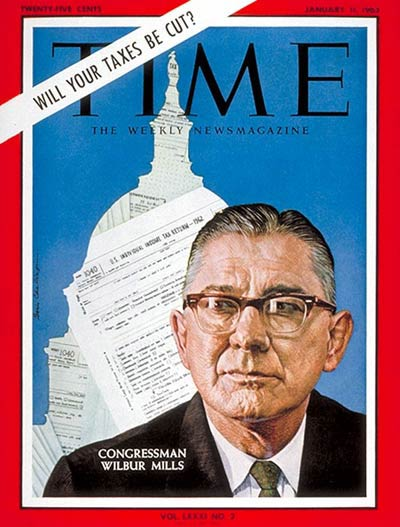 TIME Magazine Cover: Wilbur D. Mills -- Jan. 11, 1963