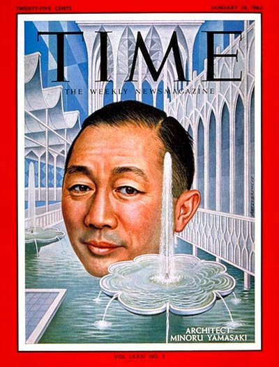 TIME Magazine Cover: Minoru Yamasaki -- Jan. 18, 1963