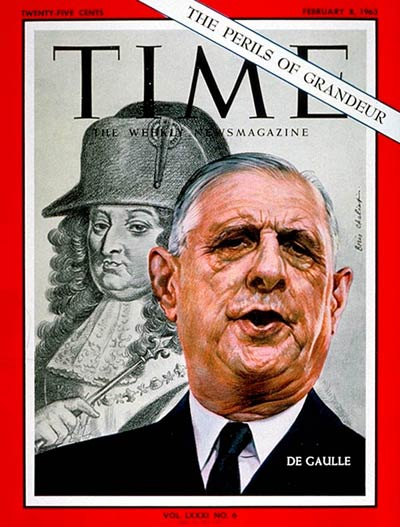 TIME Magazine Cover: Charles DeGaulle -- Feb. 8, 1963