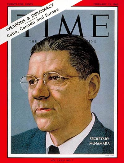 TIME Magazine Cover: Robert S. McNamara -- Feb. 15, 1963