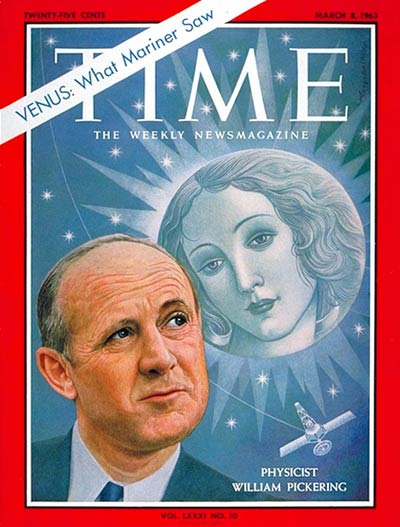 TIME Magazine Cover: William H. Pickering -- Mar. 8, 1963