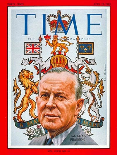 TIME Magazine Cover: Lester B. Pearson -- Apr. 19, 1963