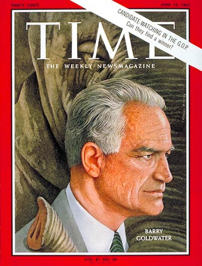 TIME Magazine Cover: Sen. Barry Goldwater -- June 14, 1963