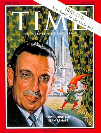 TIME Magazine Cover: Sean Lemass -- July 12, 1963