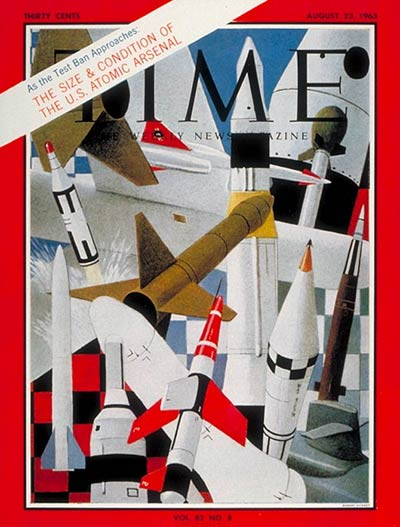 TIME Magazine Cover: U.S. Atomic Arsenal -- Aug. 23, 1963