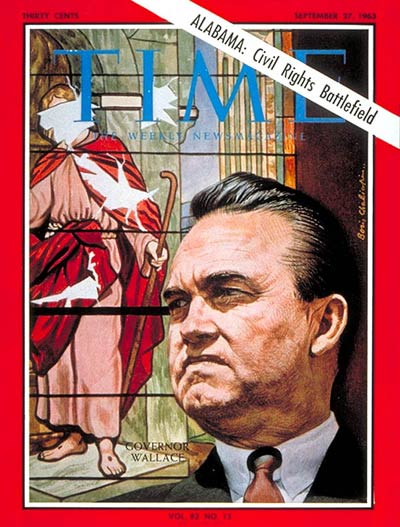 TIME Magazine Cover: Gov. George Wallace -- Sep. 27, 1963