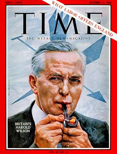 TIME Magazine Cover: Harold Wilson -- Oct. 11, 1963