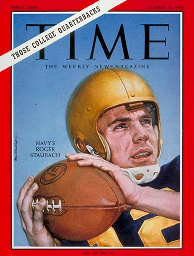 TIME Magazine Cover: Roger Staubach -- Oct. 18, 1963