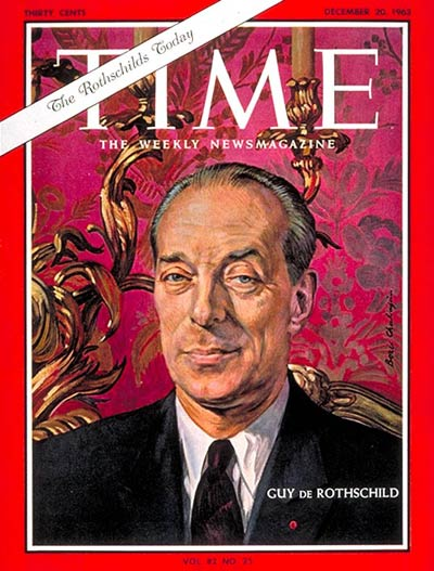 TIME Magazine Cover: Guy de Rothschild -- Dec. 20, 1963