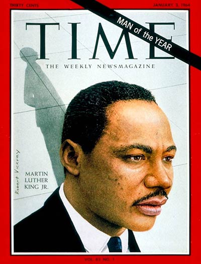 TIME Magazine Cover: Martin Luther King Jr., Man of the Year -- Jan. 3, 1964
