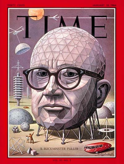 TIME Magazine Cover: R. Buckminster Fuller -- Jan. 10, 1964