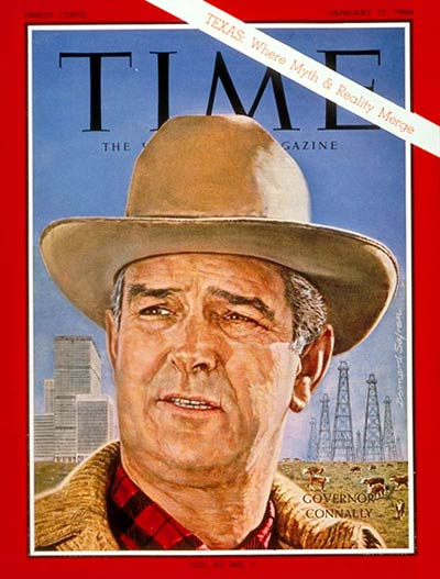 TIME Magazine Cover: Gov. John Connally -- Jan. 17, 1964