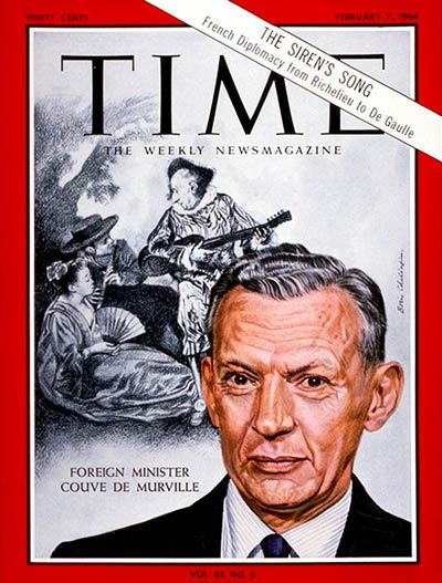 TIME Magazine Cover: Couve De Murville -- Feb. 7, 1964