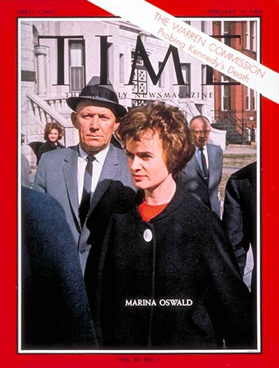 TIME Magazine Cover: Marina Oswald -- Feb. 14, 1964