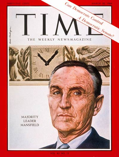 TIME Magazine Cover: Mike Mansfield -- Mar. 20, 1964