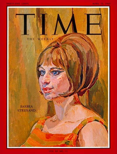 TIME Magazine Cover: Barbra Streisand -- Apr. 10, 1964