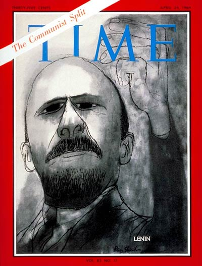 TIME Magazine Cover: Vladimir I. Lenin -- Apr. 24, 1964