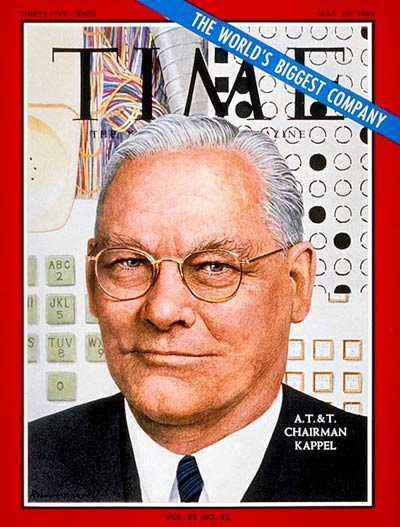 TIME Magazine Cover: Frederick R. Kappel -- May 29, 1964
