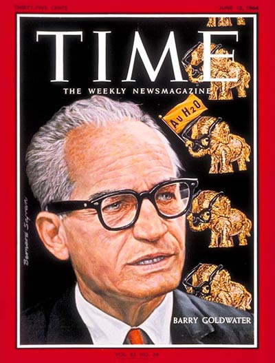 TIME Magazine Cover: Barry Goldwater -- June 12, 1964