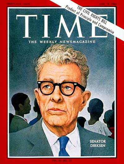 TIME Magazine Cover: Sen. Everett Dirksen -- June 19, 1964