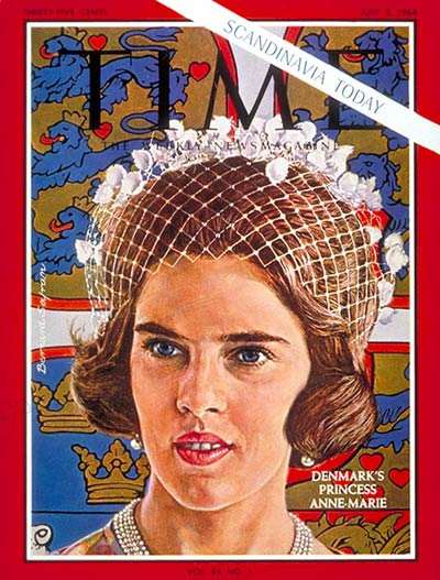 TIME Magazine Cover: Princess Anne-Marie -- July 3, 1964