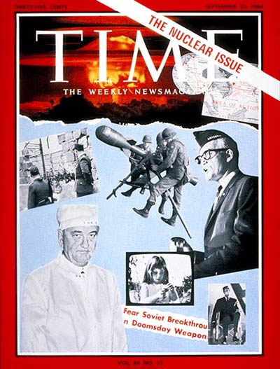 TIME Magazine Cover: The Nuclear Issue -- Sep. 25, 1964