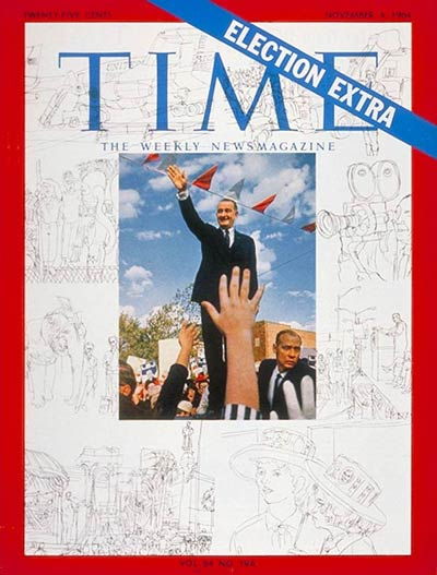 TIME Magazine Cover: Lyndon B. Johnson -- Nov. 4, 1964