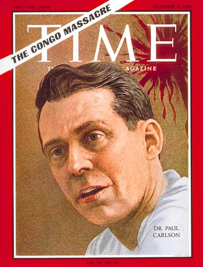 TIME Magazine Cover: Dr. Paul Carlson -- Dec. 4, 1964