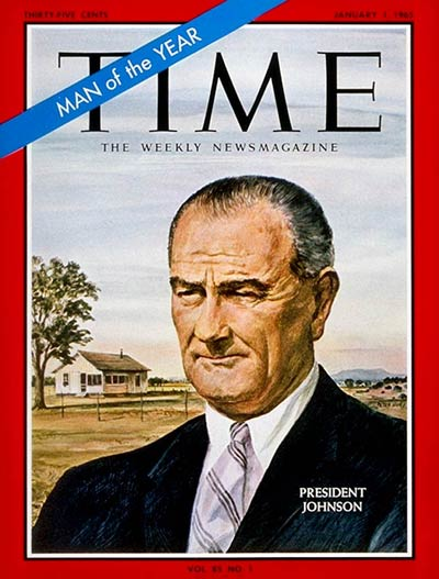 TIME Magazine Cover: Lyndon B. Johnson, Man of the Year -- Jan. 1, 1965