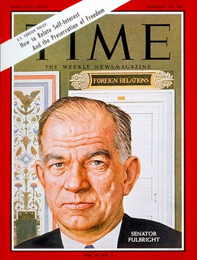 TIME Magazine Cover: Sen. William Fulbright -- Jan. 22, 1965