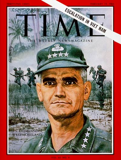 TIME Magazine Cover: General Westmoreland -- Feb. 19, 1965