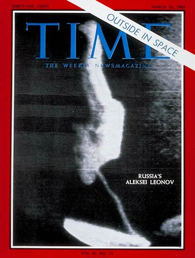 TIME Magazine Cover: Aleksei Leonov -- Mar. 26, 1965