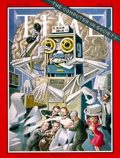 TIME Magazine Cover: Computer in Society -- Apr. 2, 1965