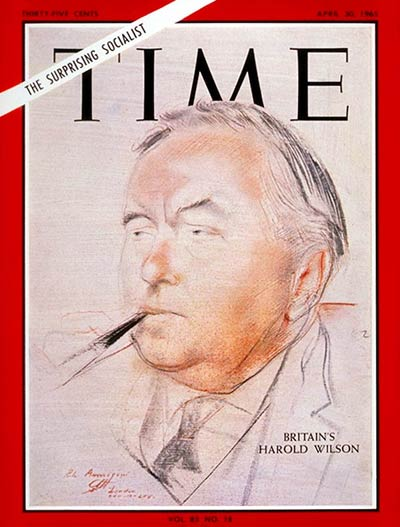 TIME Magazine Cover: Harold Wilson -- Apr. 30, 1965