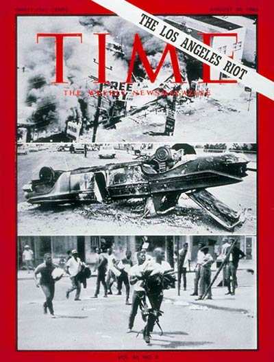 TIME Magazine Cover: Los Angeles Riot -- Aug. 20, 1965